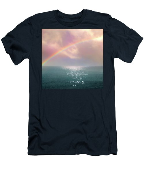 Beautiful Morning In Dreamland With Rainbow Men's T-Shirt (Athletic Fit)