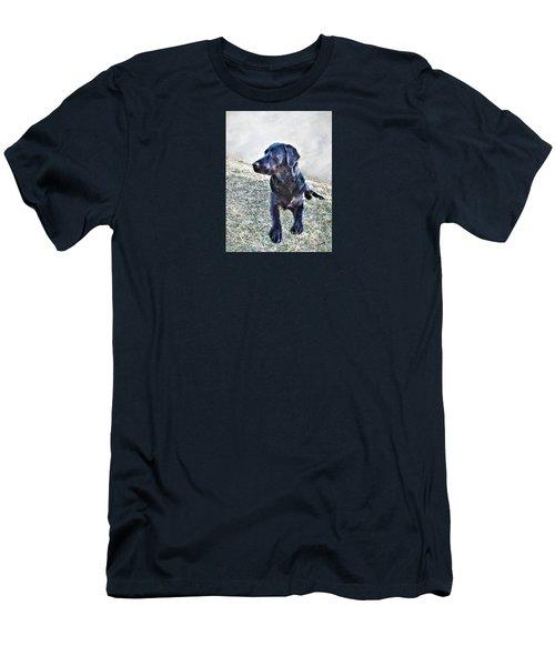 Black Labrador Retriever - Daisy Men's T-Shirt (Athletic Fit)