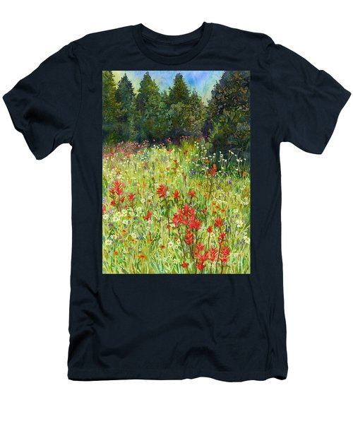 Blooming Field Men's T-Shirt (Athletic Fit)