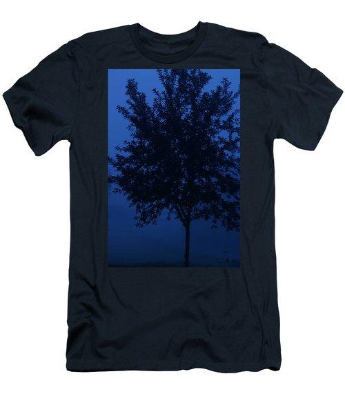 Blue Cherry Tree Men's T-Shirt (Athletic Fit)