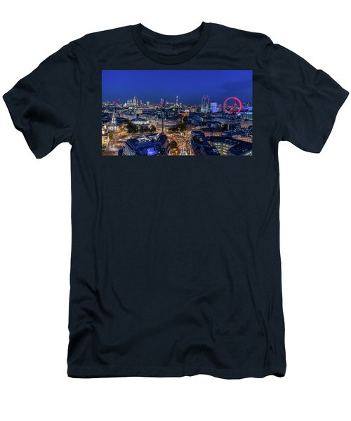 Men's T-Shirt (Athletic Fit) featuring the photograph Blue Hour In London by Stewart Marsden
