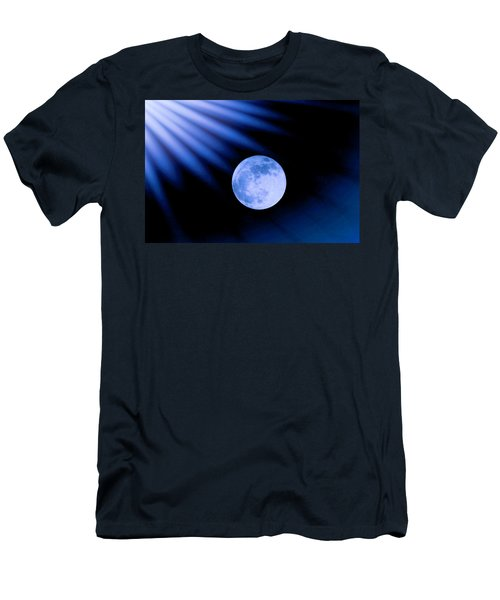 Blue Rays On The Moon Men's T-Shirt (Athletic Fit)