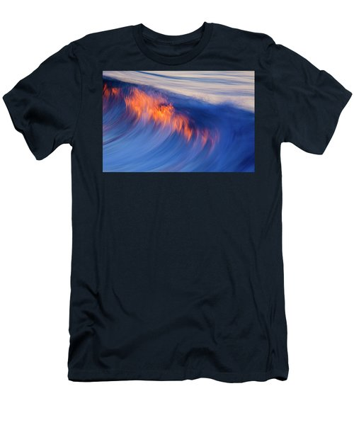Burning Wave Men's T-Shirt (Athletic Fit)
