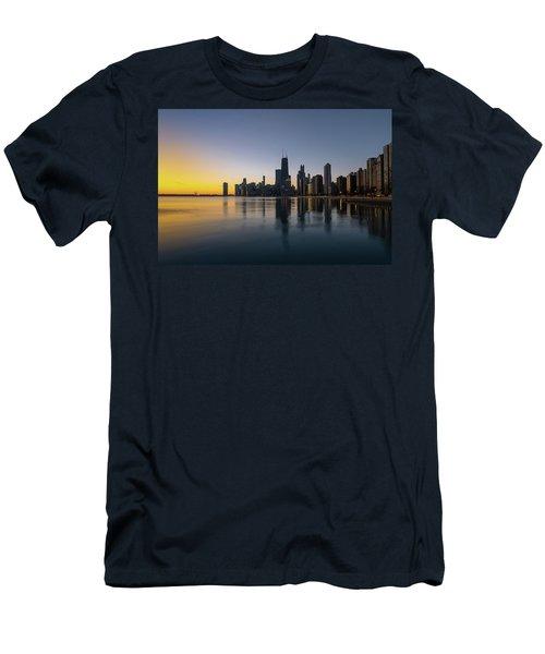 Chicago Lakefront Dawn Men's T-Shirt (Athletic Fit)
