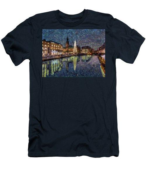Christmas Hamburg Men's T-Shirt (Athletic Fit)