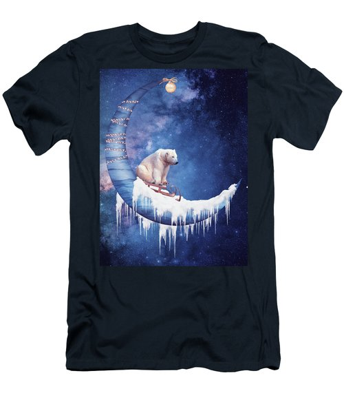Christmas On The Moon Men's T-Shirt (Athletic Fit)