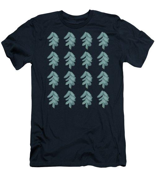 Christmas Tree Pattern Men's T-Shirt (Athletic Fit)