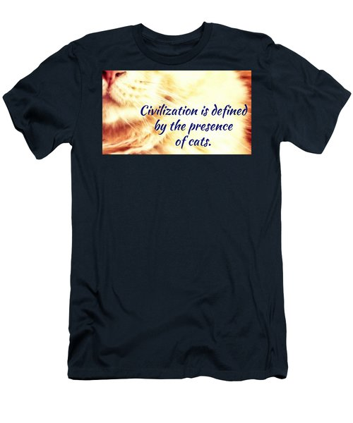 Men's T-Shirt (Athletic Fit) featuring the photograph Civilization by Judy Kennedy