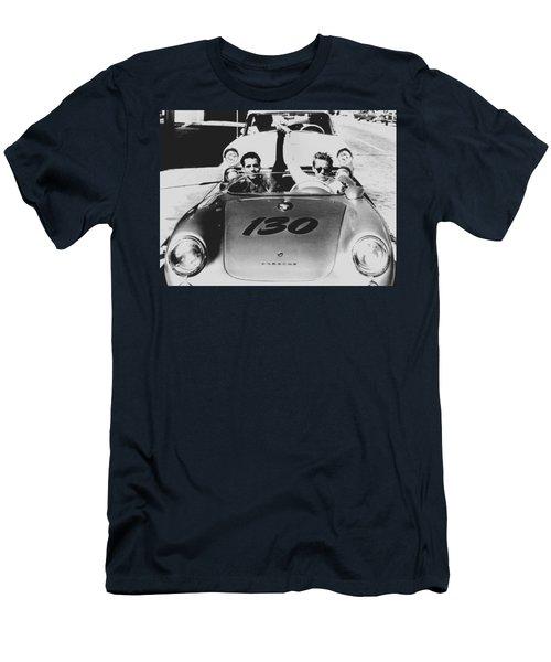 Classic James Dean Porsche Photo Men's T-Shirt (Athletic Fit)