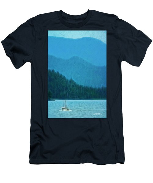 Men's T-Shirt (Athletic Fit) featuring the photograph Coastal Life In Alaska by Mike Braun
