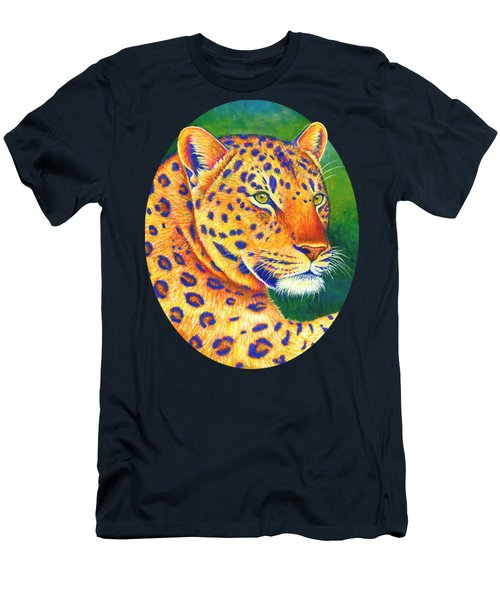 Colorful Leopard Portrait Men's T-Shirt (Athletic Fit)