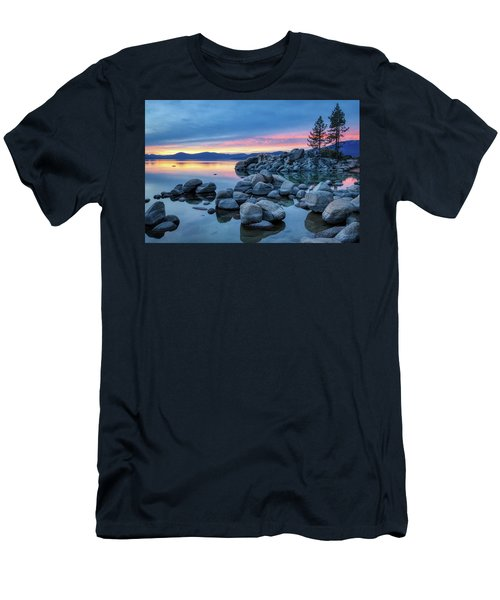 Colorful Sunset At Sand Harbor Men's T-Shirt (Athletic Fit)