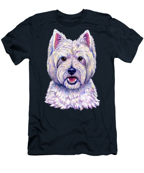 Colorful West Highland White Terrier Dog Men's T-Shirt (Athletic Fit)