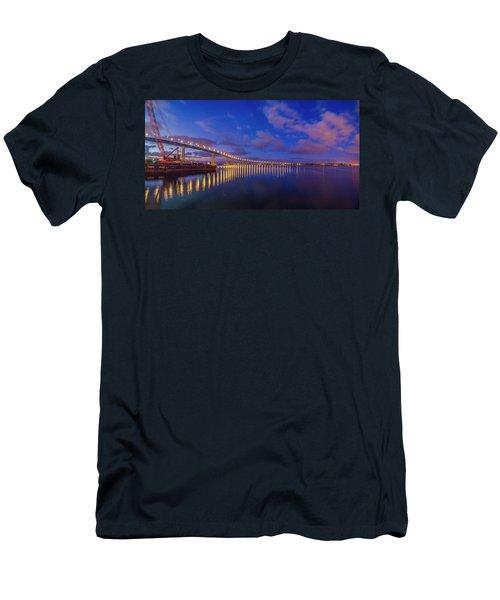 Coronado Bridge Sunrise - Panorama Men's T-Shirt (Athletic Fit)