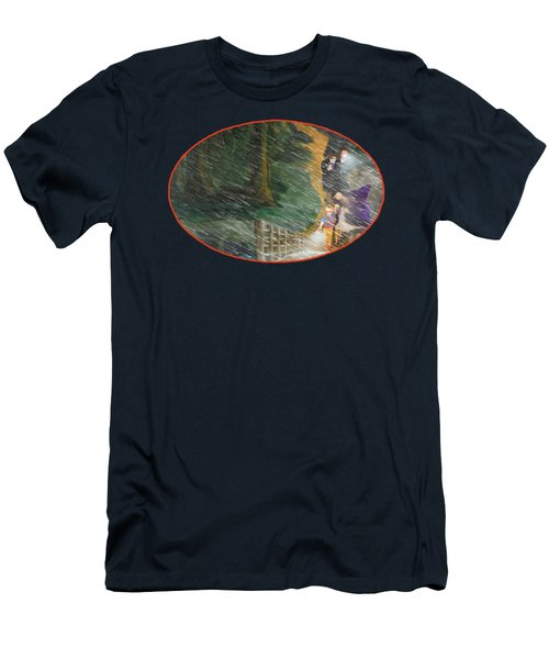 Crossing Timber Bridge Men's T-Shirt (Athletic Fit)
