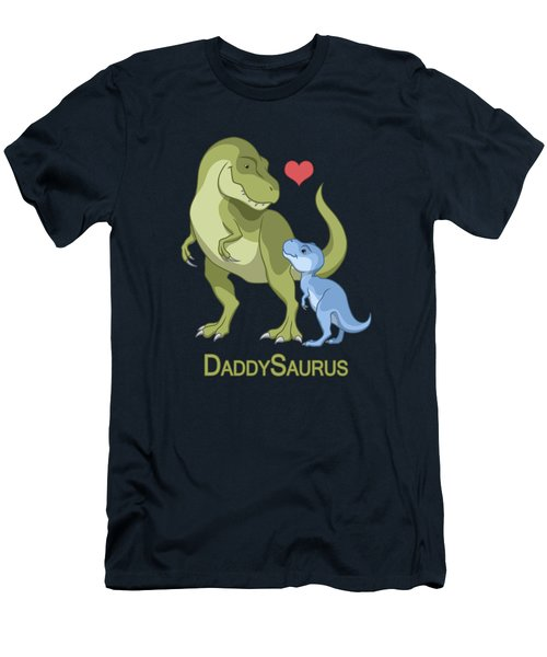 Daddysaurus Tyrannosaurus Rex And Baby Boy Dinosaurs Men's T-Shirt (Athletic Fit)