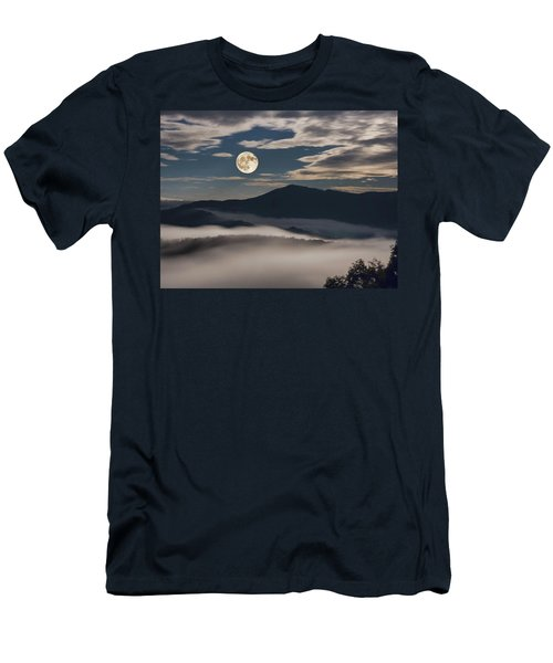 Dance Of Clouds And Moon Men's T-Shirt (Athletic Fit)