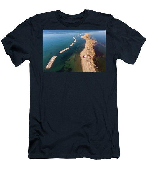 Dashed Line Men's T-Shirt (Athletic Fit)
