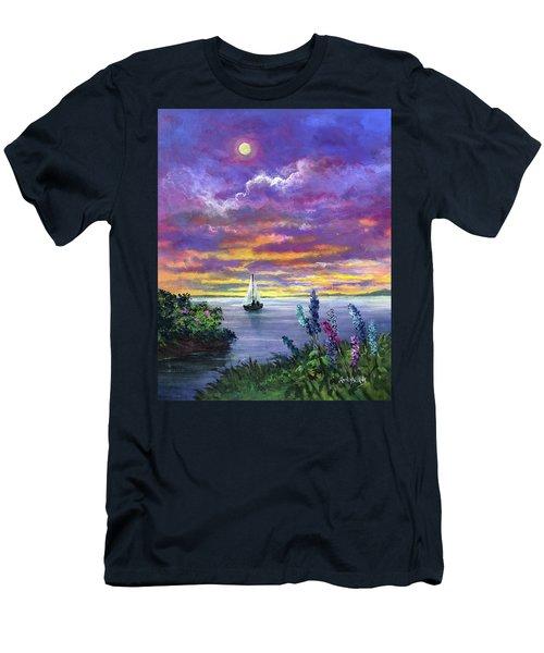 Delphinium Dreams Men's T-Shirt (Athletic Fit)