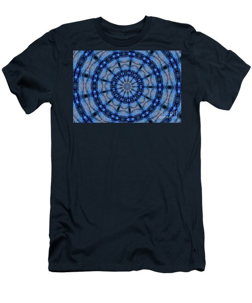 Men's T-Shirt (Athletic Fit) featuring the photograph Blue Jay Mandala by Debbie Stahre
