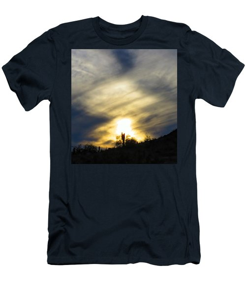 Men's T-Shirt (Athletic Fit) featuring the photograph Exuberant Sun Pillar by Judy Kennedy