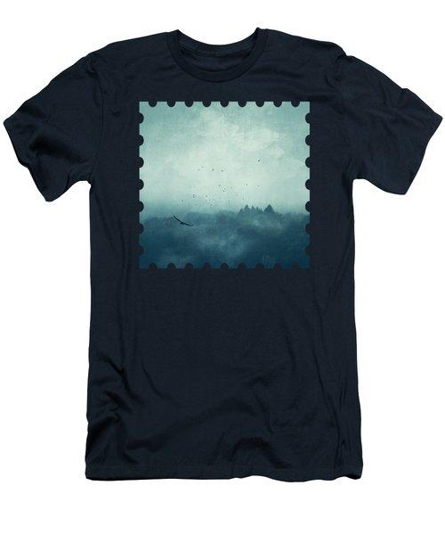 Flight Home - Mist Over Landscape Men's T-Shirt (Athletic Fit)