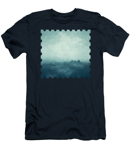 Flight Home - Mist Over Landscape Men's T-Shirt (Athletic Fit)