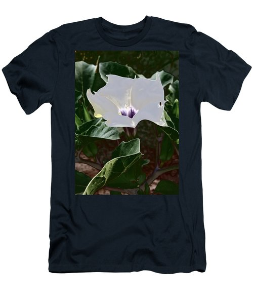 Men's T-Shirt (Athletic Fit) featuring the photograph Flower And Fly by Judy Kennedy