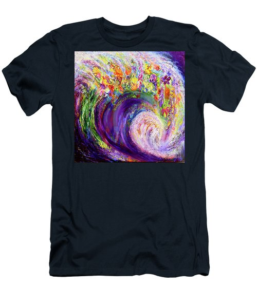 Flower Wave Men's T-Shirt (Athletic Fit)