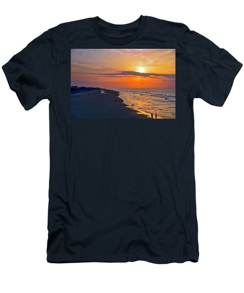 Folly Beach Sunrise Men's T-Shirt (Athletic Fit)