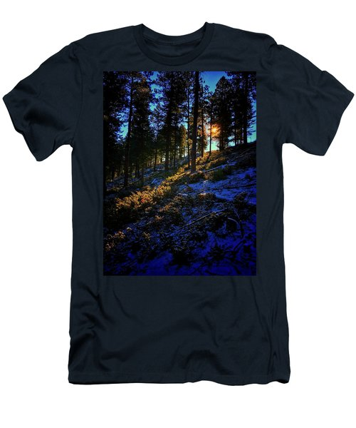 Men's T-Shirt (Athletic Fit) featuring the photograph Forest Sunrise by Dan Miller