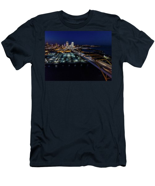Men's T-Shirt (Athletic Fit) featuring the photograph Gateway To Milwaukee by Randy Scherkenbach