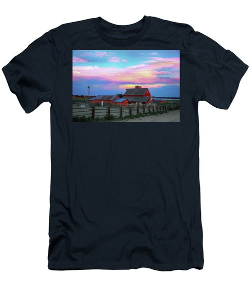 Men's T-Shirt (Athletic Fit) featuring the photograph Ghost Horses Pastel Sky Timed Stack by James BO Insogna
