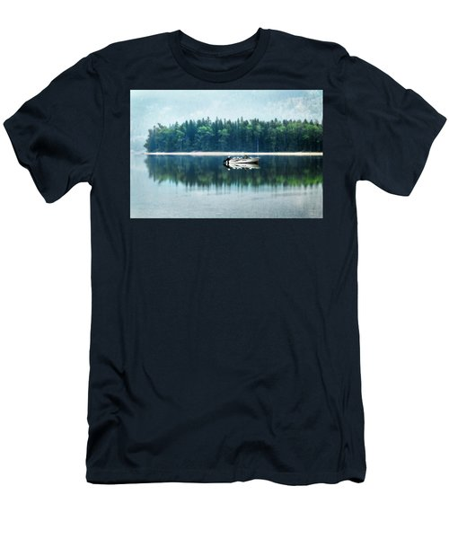 Glacier National Park Lake Reflections Men's T-Shirt (Athletic Fit)