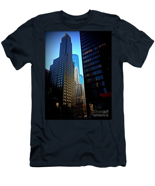 Golden Hour Reflections - City Of Chicago Men's T-Shirt (Athletic Fit)