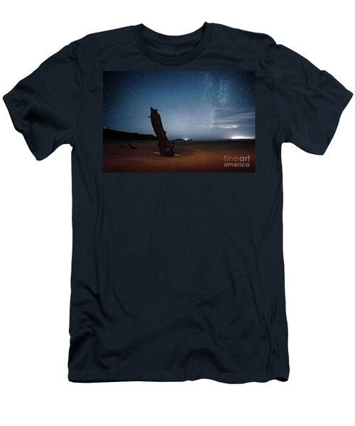 Gower Helvetia At Night  Men's T-Shirt (Athletic Fit)