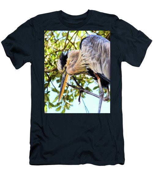 Great Blue Heron Close Up Men's T-Shirt (Athletic Fit)