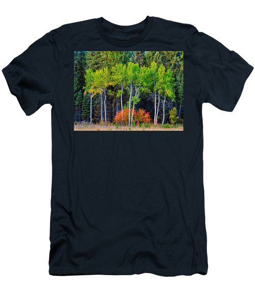 Green Aspens Red Bushes Men's T-Shirt (Athletic Fit)