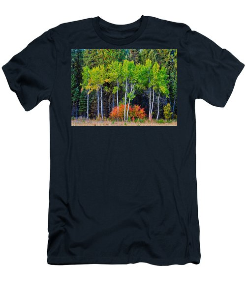Green Aspens Red Bushes Men's T-Shirt (Athletic Fit)