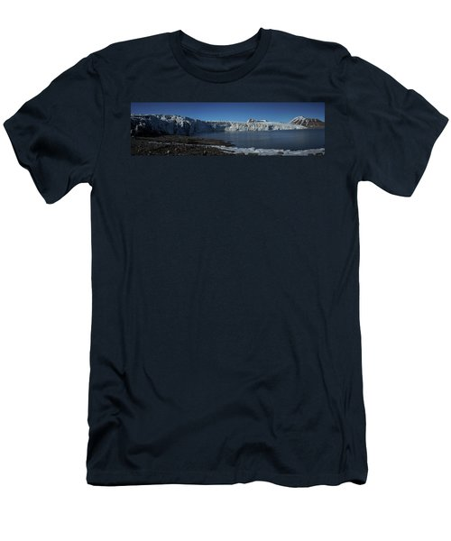 In Front Of A Glacier On Svalbard Men's T-Shirt (Athletic Fit)