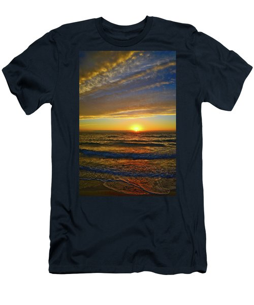 Men's T-Shirt (Athletic Fit) featuring the photograph Incredible Sunrise Over The Atlantic Ocean by Lynn Bauer