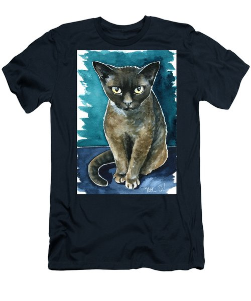 Joey - Devon Rex Cat Painting Men's T-Shirt (Athletic Fit)