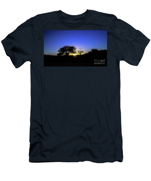 Last Light Texas Hill Country Paradise Canyon Sunset 8053a Men's T-Shirt (Athletic Fit)