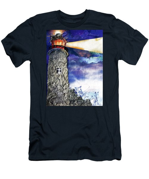 Light Of The World Torn Paper Collage Men's T-Shirt (Athletic Fit)