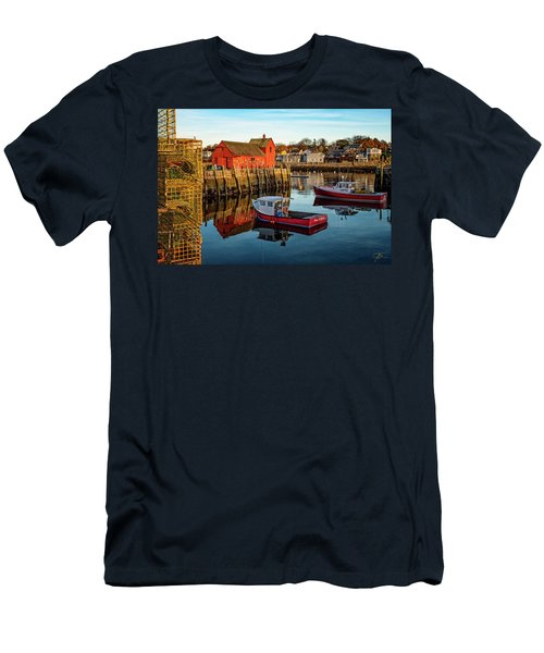 Lobster Traps, Lobster Boats, And Motif #1 Men's T-Shirt (Athletic Fit)