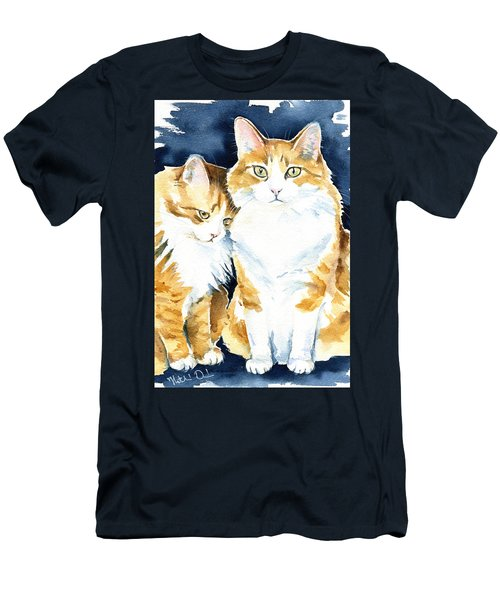 Love Me Meow Cat Painting Men's T-Shirt (Athletic Fit)