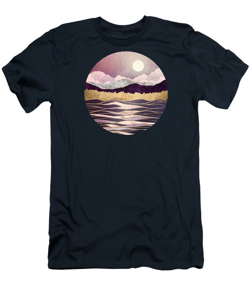 Lunar Waves Men's T-Shirt (Athletic Fit)