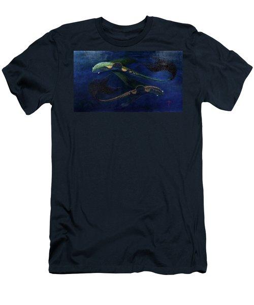 Men's T-Shirt (Athletic Fit) featuring the painting Magic Fish by James Lanigan Thompson MFA