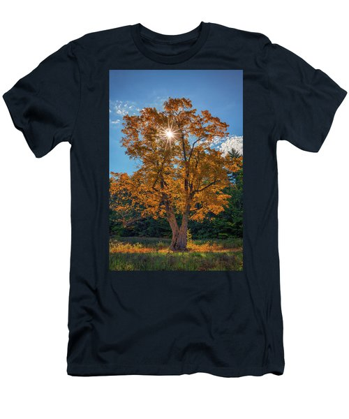 Men's T-Shirt (Athletic Fit) featuring the photograph Maple Tree In Full Autumn Glory by Rick Berk