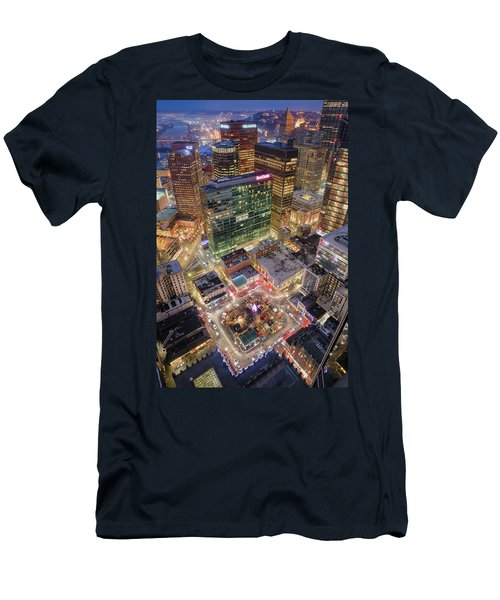 Market Square From Above  Men's T-Shirt (Athletic Fit)